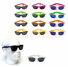 SUNGLASSES WAYFARER 80's STYLE RETRO GEEK MENS LADIES CLASSIC AVIATOR SHADES