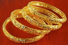 14k Yellow Gold Plated Indian Bollywood 2.6/8 Bangles Bracelet Kada Set Jewelry