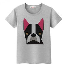 ORIGAMI FRENCHIE TOP TEE PRINTED DOG INSPIRED FRENCH BULLDOG HUND DAILY SUMMER C