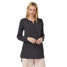Principles By Ben De Lisi Womens Navy Diamond Print Shirt From Debenhams