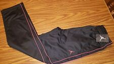 NWT $45 Jordan Boys Jumpman Athletic Track Pants Black/Red  951103-KR7