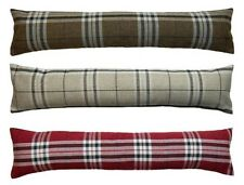 Tartan Check Draught Excluder 100% Polyester Fabric Door or Window Draft Guard