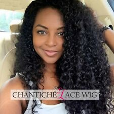 Curly Lace Front Human Hair Wigs Glueless Indian Remy Full Lace Wig Free Part