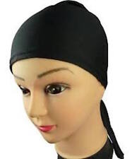 Quality Under Scarf Bonnet Tie Back Cap for Hijab Head Scarf Chemo Black White