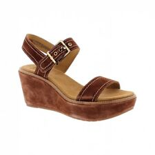 Clarks Aisley Orchid - Dark Tan Suede (Brown) Womens Sandals
