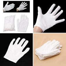 12 Pairs White Inspection Cotton Work Gloves Coin Jewelry Lightweight New Peachy
