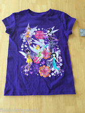 NWT Disney Store Tinker Bell Fairies Tee shirt Top SZ 10/12 Girls