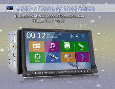 "GPS Navigation 7"" In Dash 2Din Car DVD Player Bluetooth ipod Radio+Free Map/Ship"