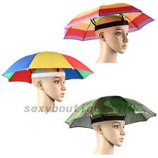 Creative Foldable Sun Umbrella Hat Golf Fishing Camping Headwear Cap Head Hat