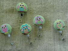 Owl Badge Reel~ on tree branches~Multi-color~Retractable ID/Name Badge Holder