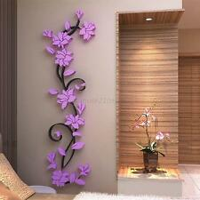 3D Removable Flowers Romantic Heart Wall Sticker Home Room Vinyl Decor DIY Decal