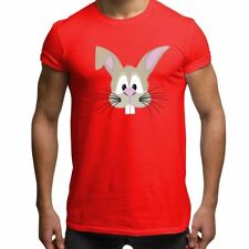 Cute Rabbit Face Novelty Mens T Shirt Funny Animal Face Graphic Tee
