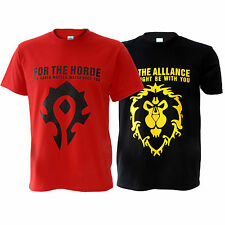 WOW World of Warcraft The Horde / Alliance Distressed Male T-Shirt NEW (M-2XL)