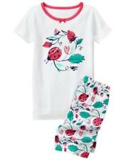 GYMBOREE SLEEPWEAR LADYBUG N STRAWBERRY 2pc PAJAMAS GYMMIES 18 24 2 3 4 6 7 8 10