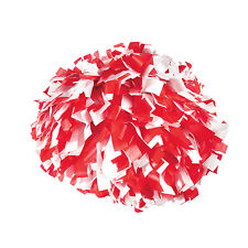 "Stock Cheer Poms | 6"" Plastics 2 Color Poms 