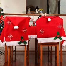 Santa Red Hat Christmas Party Chair Covers Dinning Chair Xmas Cap Decoration