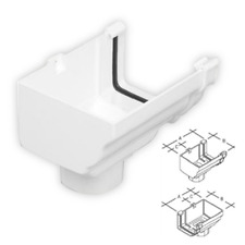 Marley Classic RCO51 Rainwater Ogee Gutter Stop End Out Left Hand Stopend Outlet