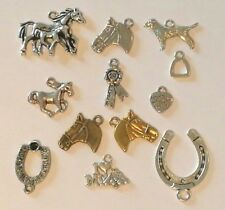 HORSE CHARMS EQUESTRIAN HORSE HEADS STIRRUPS FINDINGS HORSES UK SELLER