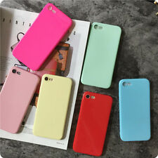 For iPhone 7 7 Plus 6 6S Trendy Simple Candy Jelly Soft Silicone TPU Case Cover