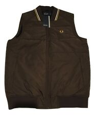 Fred Perry Men's Twin Tipped Gilet Brown Jacket Winter Body Warmer J7215-325