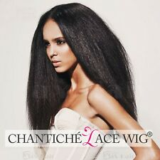 Full Lace Human Hair Wigs Kinky Straight Glueless Indian Remy Lace Wig For Women