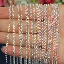 """Wholesale hot 5/10pcs 2mm silver Rolo """"O""""Chain Necklace 16""""-38"""" pick"""