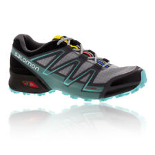 Salomon Speedcross Vario Womens Grey Blue Trail Running Shoes Trainers