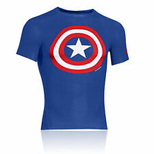 Under Armour Alter Ego Mens Blue Breathable Compression Gym Short Sleeve T Shirt