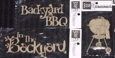 SCRAP FX Chipboard 'BBQ' Embellishments Backyard (Choose from 3 designs)