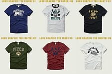 NWT MENS ABERCROMBIE & FITCH LOGO GRAPHIC TEE L M S XL A&F