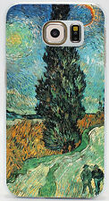 Road with Cypress and Stars Van Gogh Hard Case Cover Coque For All Phone Models