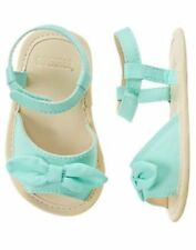 NWT Gymboree Seashore Smiles Mint Bow Crib Shoes Sandals Baby Girl Infant 1,2