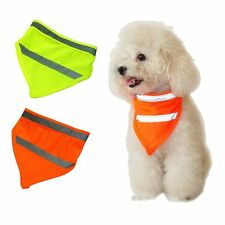 Puppy Cat Dog Triangle Collars Neckerchief Reflective Fluorescent Square Scarf