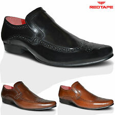 Mens Red Tape 100% Leather Smart Office Wedding Dress Formal Shoes SIZES UK