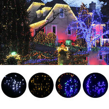 12M 100 LED White Solar String Fairy Lights Outdoor Garden Lawn Xmas Party SY