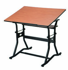 ALVIN CM50-3-WBR CRAFTMASTER III DRAFTING DRAWING AND ART TABLE BLACK BASE C...