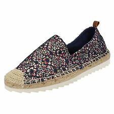 Savannah F80227 Ladies Navy Floral Print Summer Espadrilles