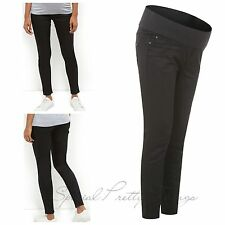 New Look Maternity Black Supersoft Super Skinny Pregnancy Jeans UK Size 8-18