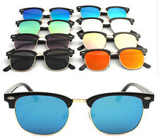 Fashion Unisex Vintage Retro Women Men Glasses Aviator Mirror Lens Sunglasses XG