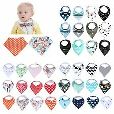8/12/16Pcs Newborn Toddler Baby Bibs Boy Girl Saliva Towel Kids Bibs Feeding