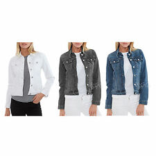 NWT The Limited Women Long Sleeve Button Up Jean Casual Stretch Denim Jacket $55