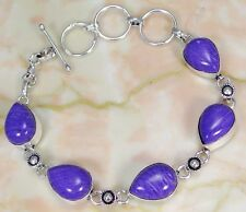 Lab Charoite & 925 Silver Handmade Stylish Bracelet 210mm FM-10988