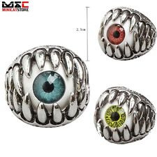 New Fashion Mens Jewelry 316L Stainless Steel Punk Eye Silver Ring Jewelry Gift
