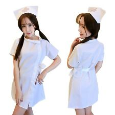 New Adult Women Sexy Lingerie Nurse Fancy Dress Costume Cosplay Halloween Outfit
