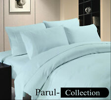 600-800-1000-1200TC Light Blue Solid 1000TC 100% Egyptian Cotton US Bedding Size