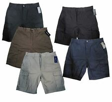 Men's Cargo Shorts Six Pockets Black Navy Khaki Olive Grey 32 34 36 38 40