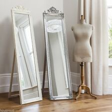 "Lambeth Shabby Chic Wood Framed Large Free Standing Mirror 18"" x 71"""