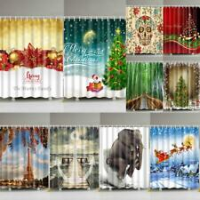 Modern Fabric Polyester Shower Curtain with 12 Rings 180cm x 180cm Bath Bathroom