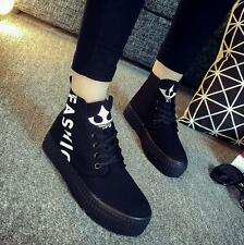 2016 New Canvas Womens Thick Soled Flat High-top shoes Shoes Causal Shoes PD40