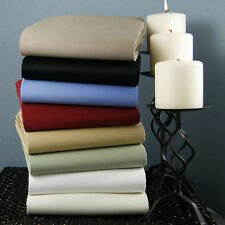 1000 TC 100% Egyptian Cotton Fitted/Flat/Duvet/Pillow All Size Solid Colors